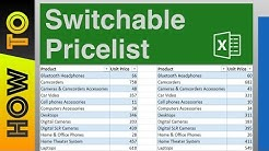 How To   Design a Switchable Price List for Different Customers