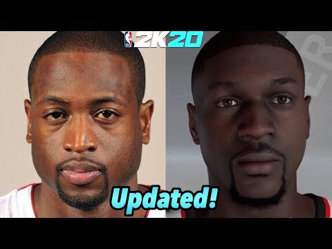NBA 2K20 How To Create Dwayne Wade's face (UPDATED!)
