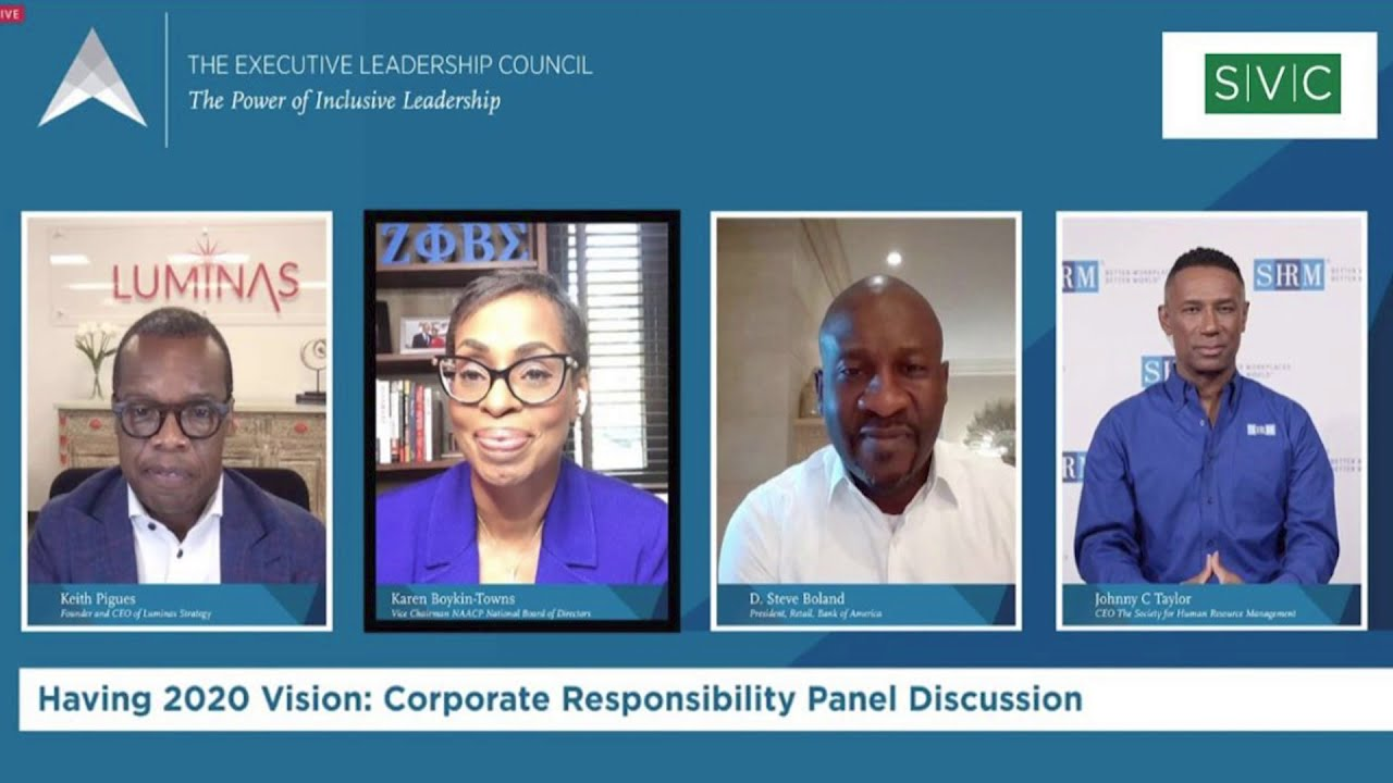 Panelist at the Executive Leadership Council Summit - Karen Boykin Towns