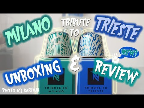🇮🇹 Tribute to MILANO & TRIESTE 🇮🇹 ITALIAN DUO Unboxing & Review (Nespresso Limited Edition) ka5i