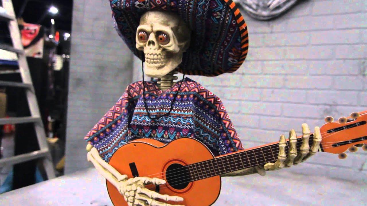 va113 skeleton playing guitar animated prop youtube. Black Bedroom Furniture Sets. Home Design Ideas
