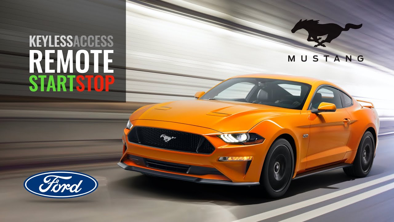 Ford mustang keyless features remote start stop