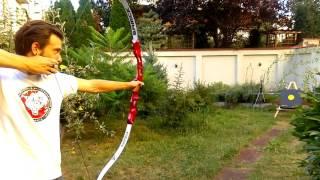 Apple slow motion bow shot