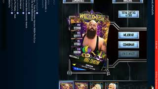 WWE SuperCard - Perfect Proin WM34 Big Show + 25 Tickets Pack