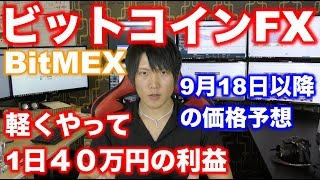 【ビットコインの明日以降の価格予想】BitcoinFXトレードで40万円の利益、今後の価格予想、BitMEX thumbnail