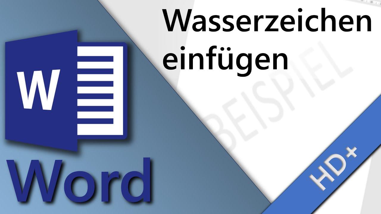 word 2010 wasserzeichen