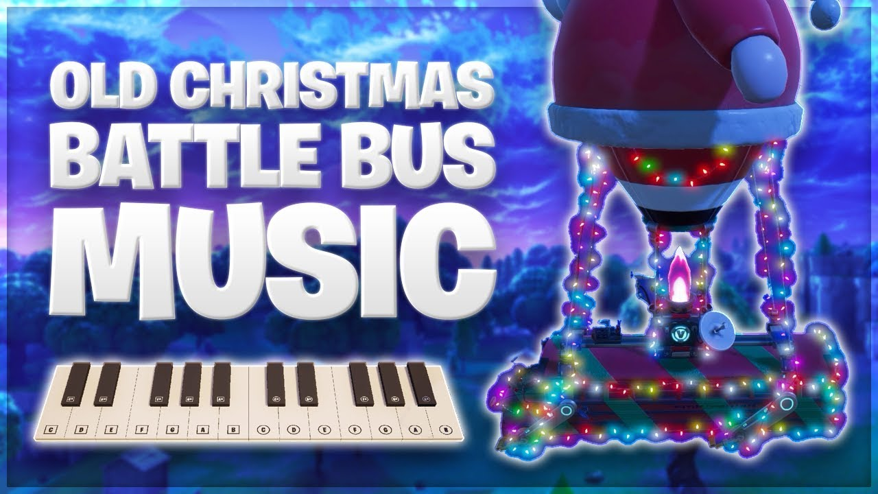 Old Fortnite Christmas Battle Bus Music Played On Giant Fortnite