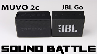 Creative Muvo 2c VS JBL Go :SOUND BATTLE -The real sound comparison (binaural recording)