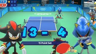 Table Tennis- Shadow and Metal Sonic(CPU )-Mario and Sonic at The Rio 2016 Olympic Games