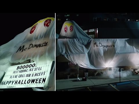 Burger King Hilariously Dresses Up As McDonald's For Halloween