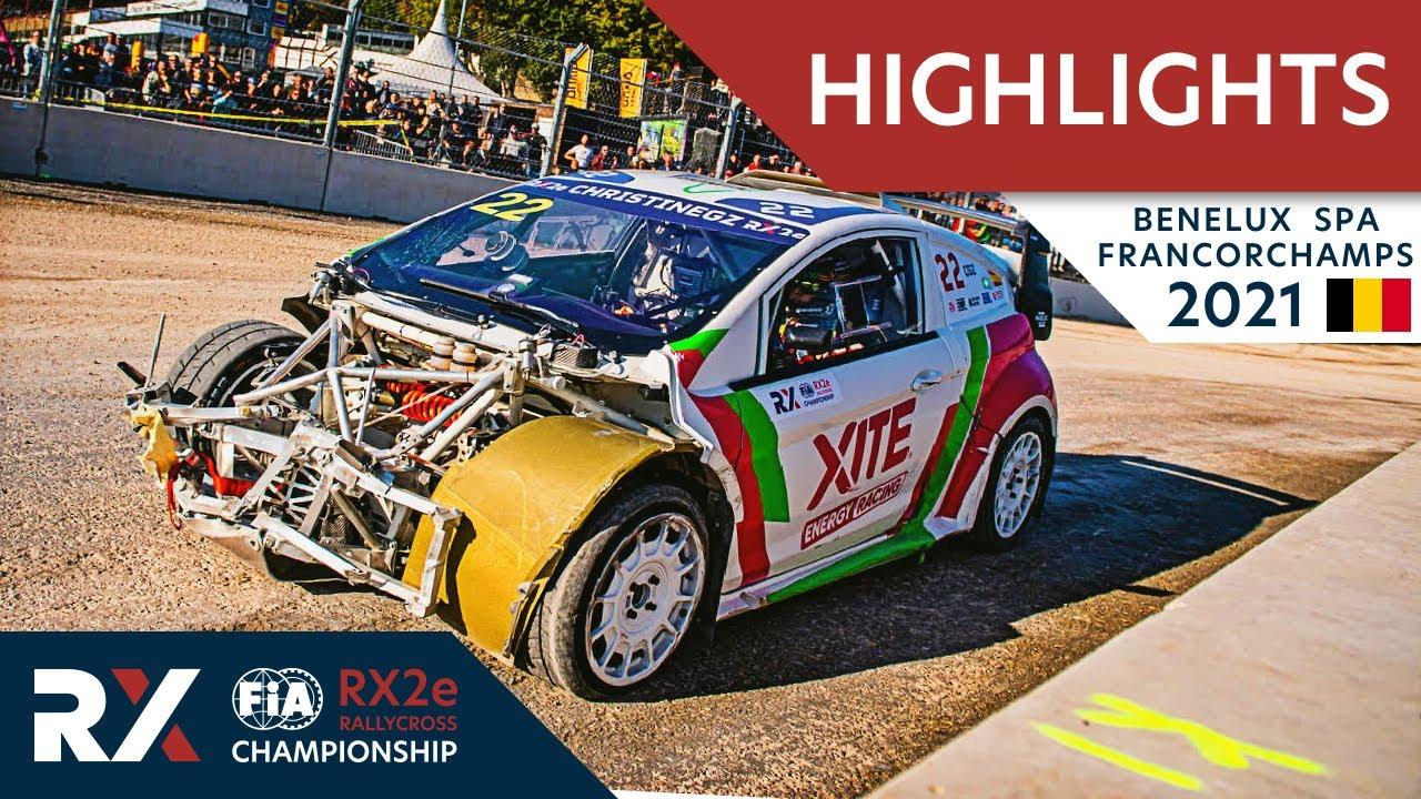 World RX2e Semi + Final Highlights : Benelux World RX of Spa Francorchamps 2021 : Belgium Rallycross