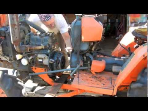 Ford 1100 Tractor Wiring Diagram Kubota B7200d Clutch Throw Out Bearing Change Youtube