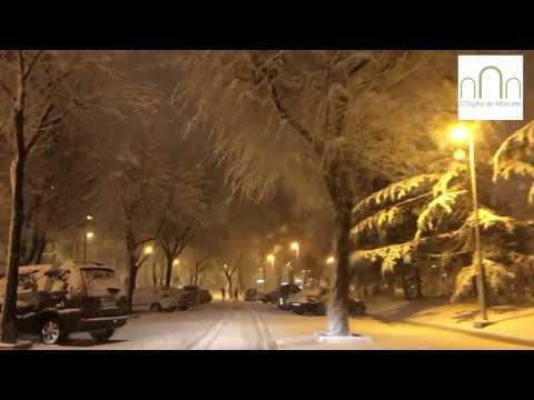 Paseo por el centro de Albacete nevando