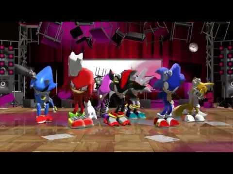 [MMD SONIC] Sonic Tails Knuckles Espio Metal Sonic Shadow Silver DOPE BTS