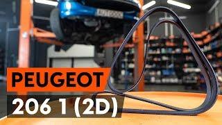 Multi v riem monteren doe het zelf instructievideo op PEUGEOT 206
