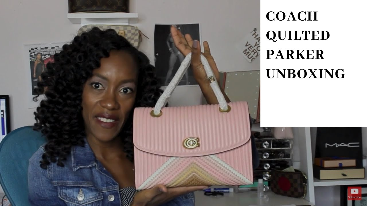 f3220ef38453 Coach Parker with Colorblock Quilting and Rivets Unboxing    Ahhhsoneo