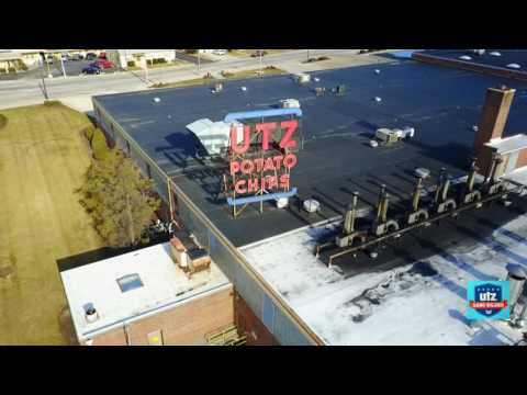 Aerial View of Utz Quality Foods Hanover PA from DJI Mavic Drone!