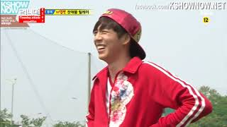 Running Man Ep147 clip - Accupressure mat Obstacle course round 1