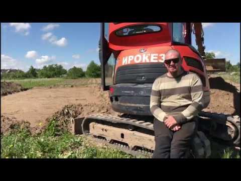 Аренда мини экскаватора в Минске. Снял 200 квадратов плодородки за 3 часа