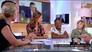 Les candidats au tableau - C à vous - 15/03/2017