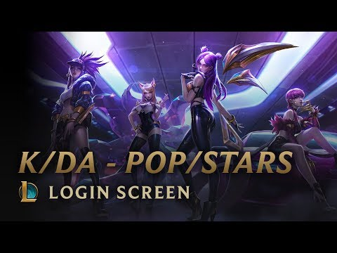 K/DA - POP/STARS (ft Madison Beer, (G)I-DLE, Jaira Burns)   Login Screen - League Of Legends