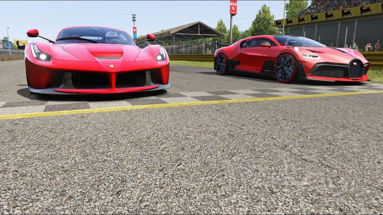 Bugatti Divo vs Ferrari LaFerrari at Monza Full Course - YouTube