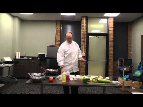 Fresh produce cooking demonstration