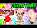 LANKYBOX REACTS TO NEW FUNNY PIGGY MEMES! (HILARIOUS MOMENTS)
