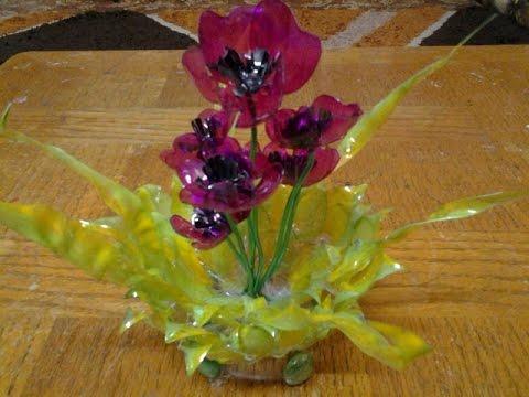 Best out of waste plastic bottles transformed to lovely poppy best out of waste plastic bottles transformed to lovely poppy flowers showpiece mightylinksfo