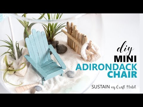 How to Make the Cutest DIY Mini Adirondack Chairs for a Beach-Themed Fairy Garden Terrarium