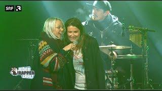 Judith Wernli performt mit Stefanie Heinzmann auf der JRZ-Konzertbühne