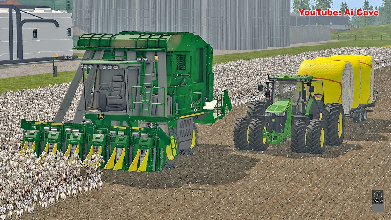 Farming Simulator 17 American Map.New Cotton Harvester Farming Simulator 2017 American Map Fs 2017