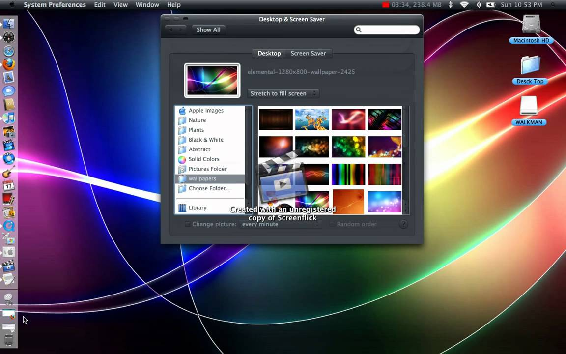 how to make a wallpaper slide show on mac osx easy youtube