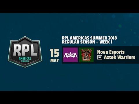 NOVA VS AZTEK Warriors | RPL AMERICAS 2018 | CLASH ROYALE | @Wanderchm