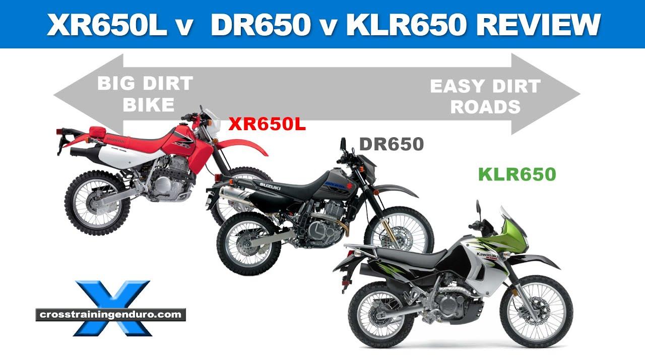 SUZUKI DR650 v HONDA XR650L v KAWASAKI KLR650! comparison review & known issues
