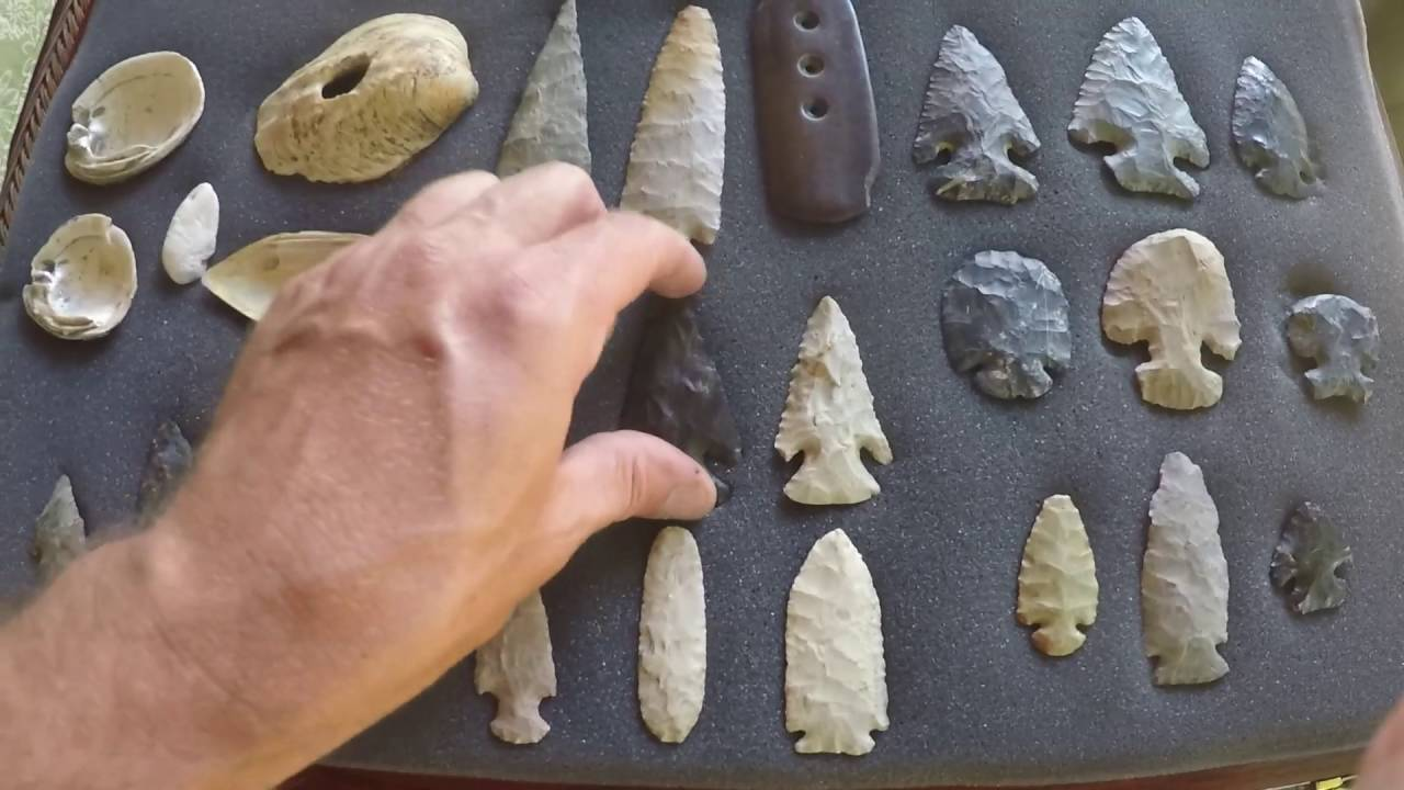 Arrowheads Indian Artifacts OHIO Relic Collection Archaeology Thebes E-Notch