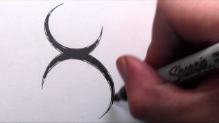 How To Draw a Simple Tribal Letter X