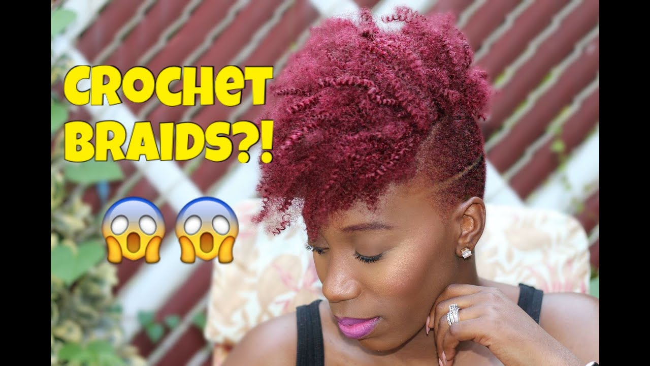 How To Crochet Braids Amp Shaved Sides Amp Undercut Youtube