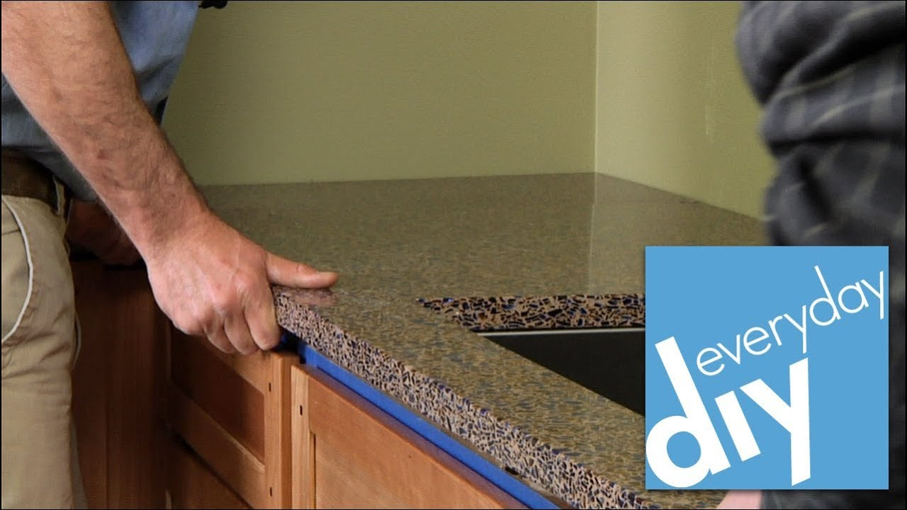 How To Install A Kitchen Countertop Buildipedia DIY YouTube - How to replace kitchen countertops