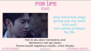EXO FOR LIFE MV EASY LYRIC ROM INDO