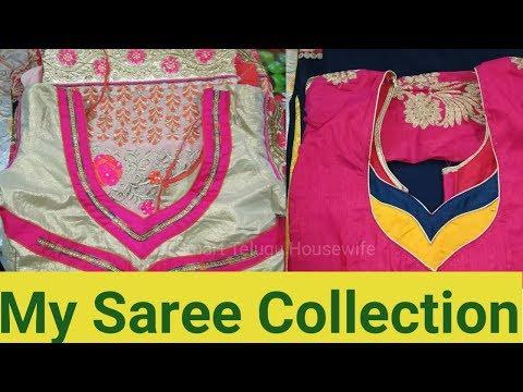 My simple regular wear saree collection in Telugu| Smart Telugu Housewife