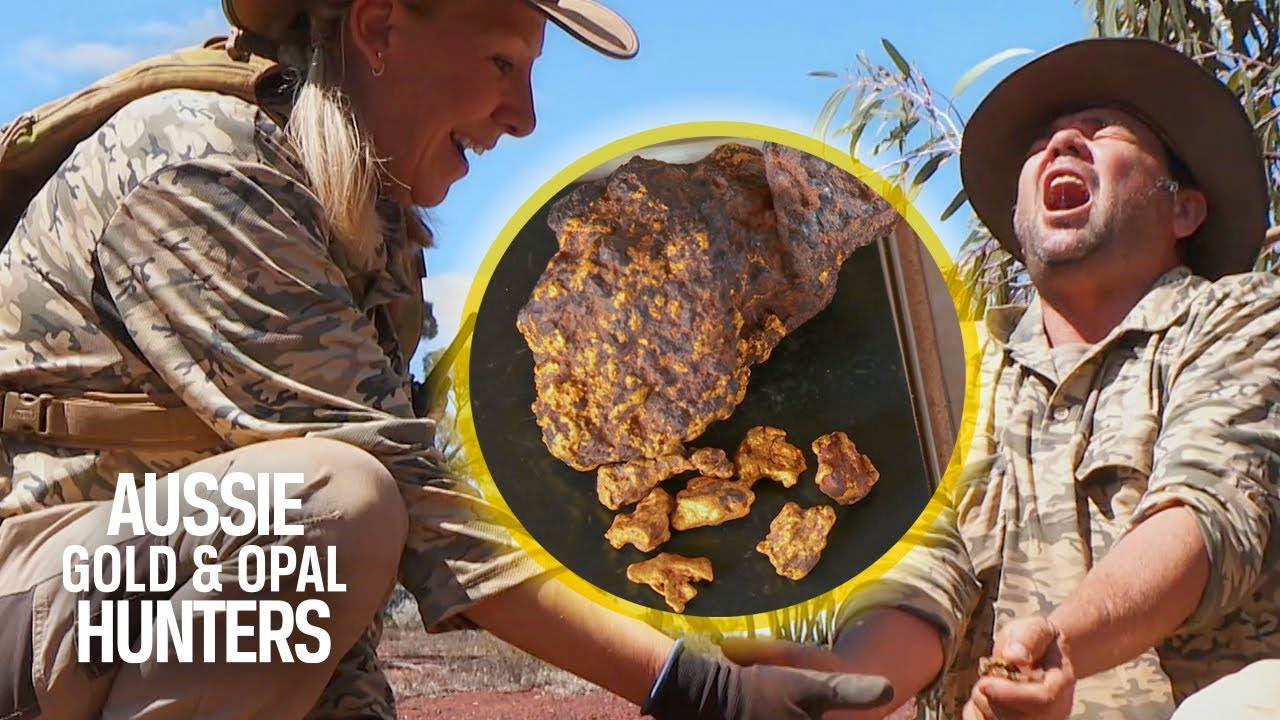 Download The Gold Gypsies Hit The Jackpot With A Monster Nugget   Aussie Gold Hunters