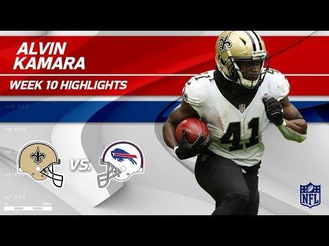 Alvin Kamara's 106 Rushing Yards & 1 TD vs. Buffalo! | Saints vs. Bills | Wk 10 Player Highlights