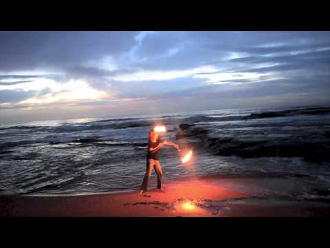 Sunrise Fire Poi - A beautiful time to spin