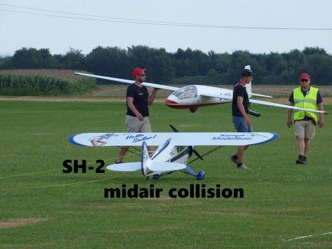 SH-2 im Doppelschlepp Midair Collision