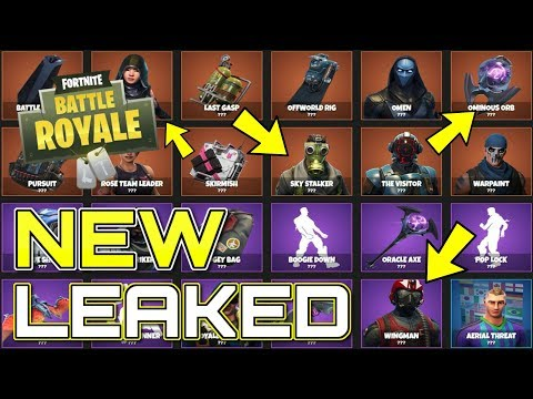 *NEW* Fortnite: 6 NEW LEAKED SKINS, BACK BLINGS & MUCH MORE! (Latest Patch Leaks)