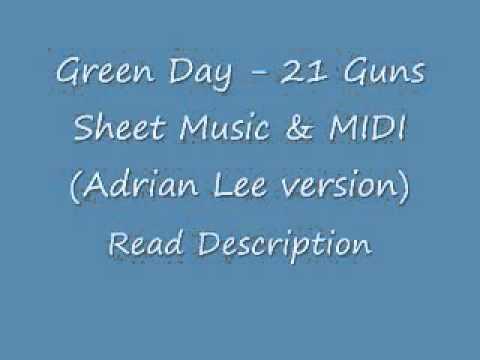 Green Day  21 Guns Sheets & MIDI Adrian Lee versi