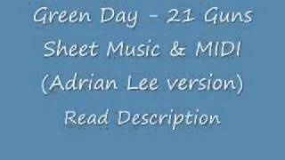 Green Day - 21 Guns Sheets & MIDI (Adrian Lee version)
