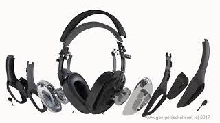 Phonaudio headphones 3D animation