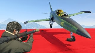 RPG vs AVIONES BLINDADOS - GTA V ONLINE